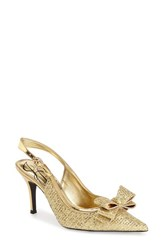 Women's J. Renee 'Charise' Slingback Pump Gold