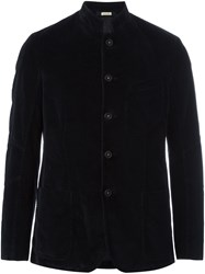 Massimo Alba Buttoned Jacket Blue