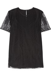 Gucci Satin And Lace Top Black