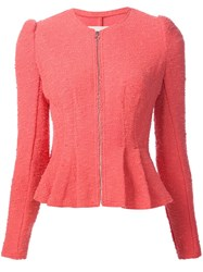 Rebecca Taylor Peplum Hem Jacket Pink And Purple