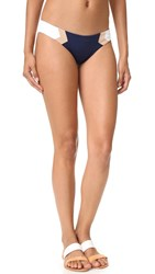 L Space Barracuda Colorblock Reversible Bottoms Midnight Blue