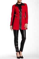 Insight Faux Leather Contrast Ponte Jacket Multi