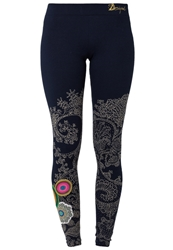 Desigual Laia Leggings Navy Blue