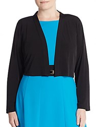 Calvin Klein Plus Size Cropped Open Front Cardigan Black