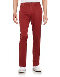 Brooks Brothers Straight Leg Chino Pants Red