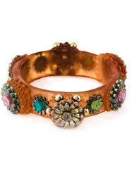 Jean Paul Gaultier Vintage 'Mille Fiori' Cuff Yellow And Orange
