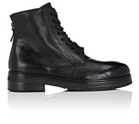 Marsell Men's Leather Lace Up Boots Black
