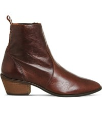 Office Leighton Leather Ankle Boots Brown Leather
