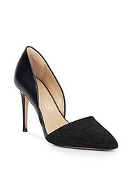 Saks Fifth Avenue Felicity Beaded Leather Pumps Black