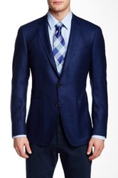 Todd Snyder Blue Two Button Notch Collar Wool Sport Coat