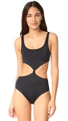 Solid And Striped The Bella Knot Front One Piece Black