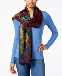 Inc International Concepts Peacock Pashmina Wrap Only At Macy's Rust