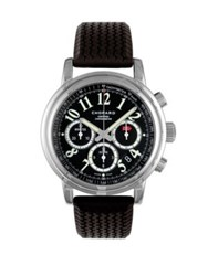 Chopard Mille Miglia Chronograph Stainless Steel And Rubber Strap Watch Black
