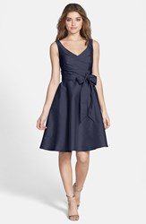 Women's Alfred Sung Satin Fit And Flare Dress Midnight
