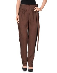 Alberta Ferretti Casual Pants Brown