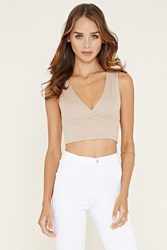 Forever 21 Ribbed Surplice Crop Top