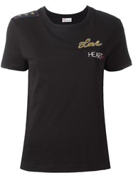 Red Valentino Patched T Shirt Black