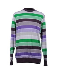 Karl Kani Long Sleeve T Shirts Deep Purple