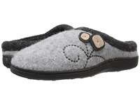 Acorn Dara Light Grey Button Women's Shoes Gray