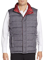 Saks Fifth Avenue Reversible Puffer Vest Grey Red