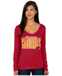 Authentic Nfl Apparel Women's Long Sleeve Arizona Cardinals Touchdown T Shirt