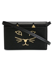 Charlotte Olympia 'Kitty' Shoulder Bag Black