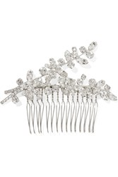 Jennifer Behr Elissa Rhodium Plated Swarovski Crystal Hair Slide Silver