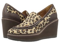 See By Chloe Sb27062 Cognac Vegetal Calf Women's Wedge Shoes Animal Print
