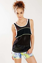 Without Walls Mesh Tank Top Black