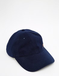 Farah Midson Pique Baseball Cap Navy Blue
