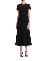Lafayette 148 New York Finley Lace Detailed Dress Black