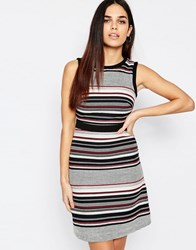 Warehouse Multi Stripe Tweed Dress Multi