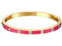 Kate Spade Set In Stone Enamel Stone Hinged Bangle Clear Pink