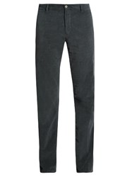 J.W.Brine Owen Slim Leg Stretch Cotton Corduroy Trousers Grey
