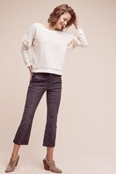 Anthropologie Pilcro Stet Mid Rise Crop Flare Cords Carbon