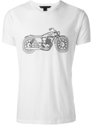 Marc By Marc Jacobs Embroidered Motorcycle T Shirt White
