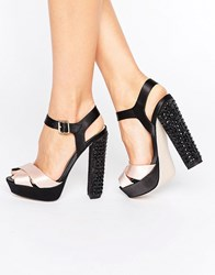 Little Mistress Platform Sandal Black Pink