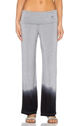 Trina Turk Ombre Jersey Roll Top Wide Leg Pant Gray