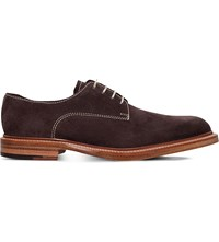 Barker Barnes Suede Derby Shoes Brown