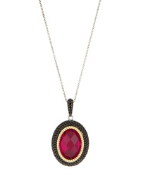 Jude Frances Fuchsia Quartz Pendant Necklace W Black Spinel