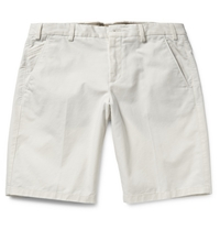 Loro Piana Stretch Cotton Bermuda Shorts White