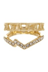 Ariella Collection Chain And Pave Ring