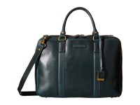 Frye David Brief Navy Smooth Pull Up Briefcase Bags Black