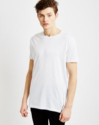 The Idle Man Short Sleeve Crew Neck T Shirt With Zips White