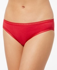 Charter Club Holiday Modern Essentials Lace Trim Bikini Only At Macy's Candy Red
