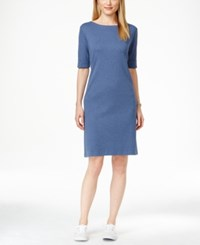 Karen Scott Petite T Shirt Dress Only At Macy's Heather Indigo