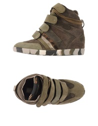 High Tops And Trainers Military Green