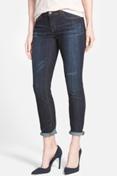 Halogen Distressed Girlfriend Jeans Blue