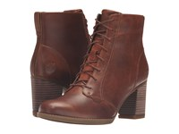 Timberland Atlantic Heights Lace Chukka Boot Medium Brown Full Grain Women's Lace Up Boots