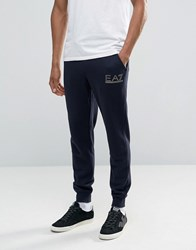 Emporio Armani Ea7 Joggers With Metallic Logo In Navy Navy